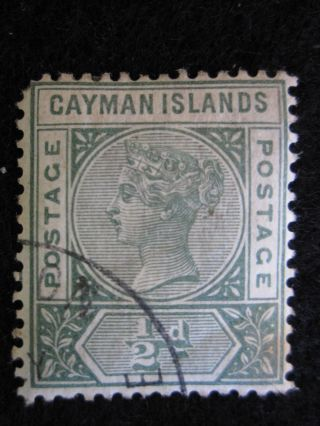 Cayman Islands - Scott 1 - Wm2 - - Cat Val 22.  50 photo