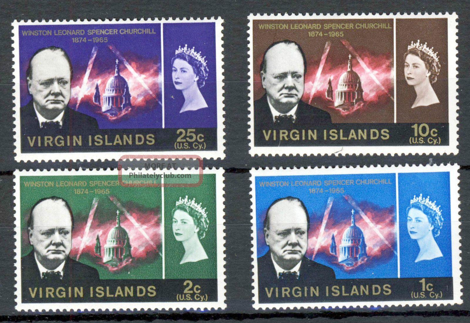 British Virgin Islands Qe Ii 1966 Churchill Commemoration Sg 197 To Sg 200 British Colonies & Territories photo