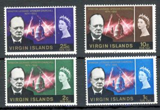 British Virgin Islands Qe Ii 1966 Churchill Commemoration Sg 197 To Sg 200 photo