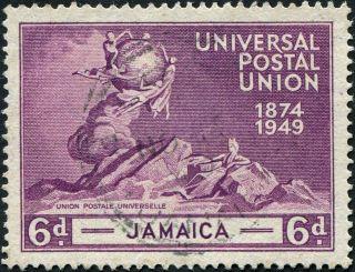 Jamaica 1949 (kgvi) 6d Purple Sg148 Cv £2.  50 Vf Uh Postage photo