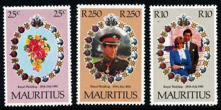 N313 Mauritius 1981 Sg615 - 7 Royal Wedding photo