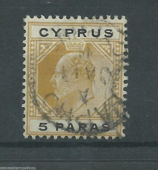 Cyprus - 1908 - Sg60 - Cv £ 2.  00 - photo