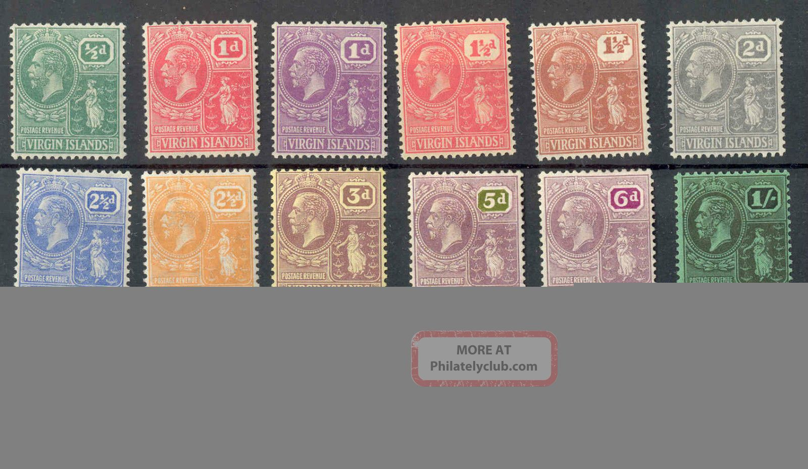 Virgin Islands Kgv 1922 - 26 All Values (not All Colours) Wmk Msca Sg86//101 Mm British Colonies & Territories photo