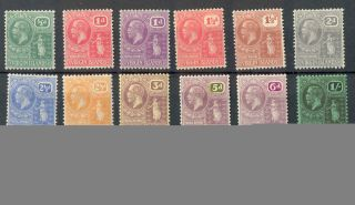 Virgin Islands Kgv 1922 - 26 All Values (not All Colours) Wmk Msca Sg86//101 Mm photo