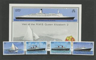 Tristan Da Cunha 1979 Qe2 Visit Signed Presentation Pack Sheet + Fdc photo