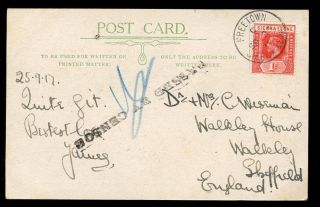 Sierra Leone Ww1 Navy Passed By Censor On Ppc Market Scene Lisk - Carew photo