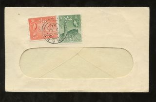 Aden 1957 National Bank Of India Window Envelope. . .  10c + 5c Local Rate photo