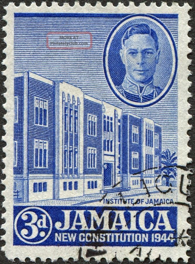 Jamaica 1945 - 6 (kgvi) 3d Ultramarine Sg136 Cv £0.  50 F Uh Postage British Colonies & Territories photo
