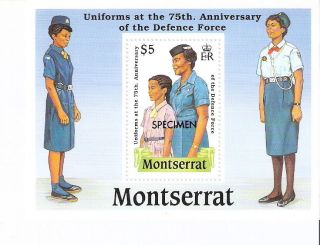 Montserrat 1989 Defense Force Anniv.  S/s (sc 711) photo