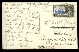 Gold Coast 1935 Rp Ppc Landing From Surf Boats Jubilee 1d Accra Postmark photo