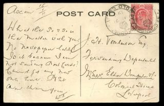 Gold Coast 1911 Ppc Native Group + Missionaries 1d With Sekondee Crown Postmark photo