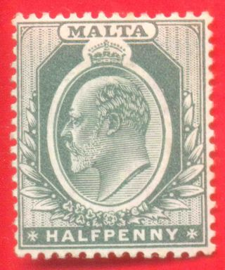 Mounted 1/2d Green Stamp 1903 - 04 Malta King Edward Vii Sg38 photo