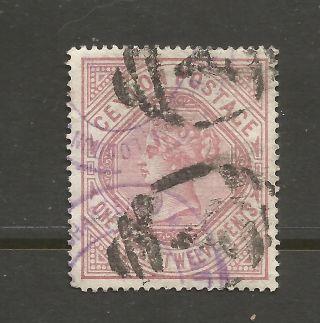 Ceylon 12 Cent From 1887 Scott 142 photo