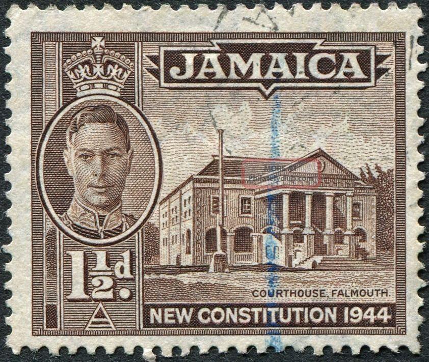 Jamaica 1946 (kgvi) 1 1/2d Sepia Sg134a Cv £1.  75 F Uh Postage British Colonies & Territories photo