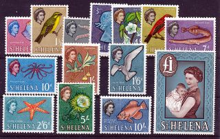 St Helena 1961 Definitives Sg176/189 photo