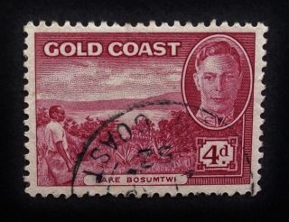 Gold Coast Kgvi 1948 Sg141,  4d Stamp,  Lake Bosumtwi,  A514 photo