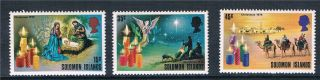 Solomon Is 1975 Christmas Sg 281/3 photo