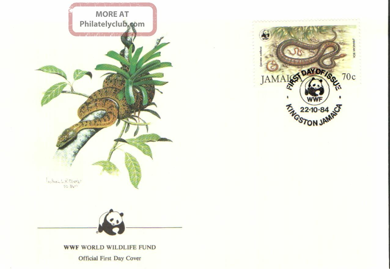 (72380) Fdc Wwf Jamaica - Snake Jamaican Boa British Colonies & Territories photo