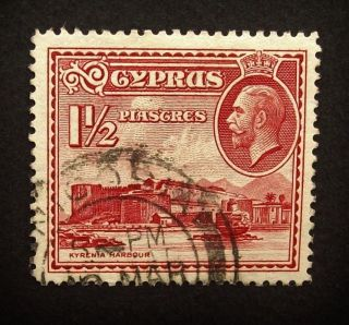 Cyprus Kgv 1934 Sg137,  1 1/2pi Stamp,  Kyrenia Harbour, ,  A454 photo