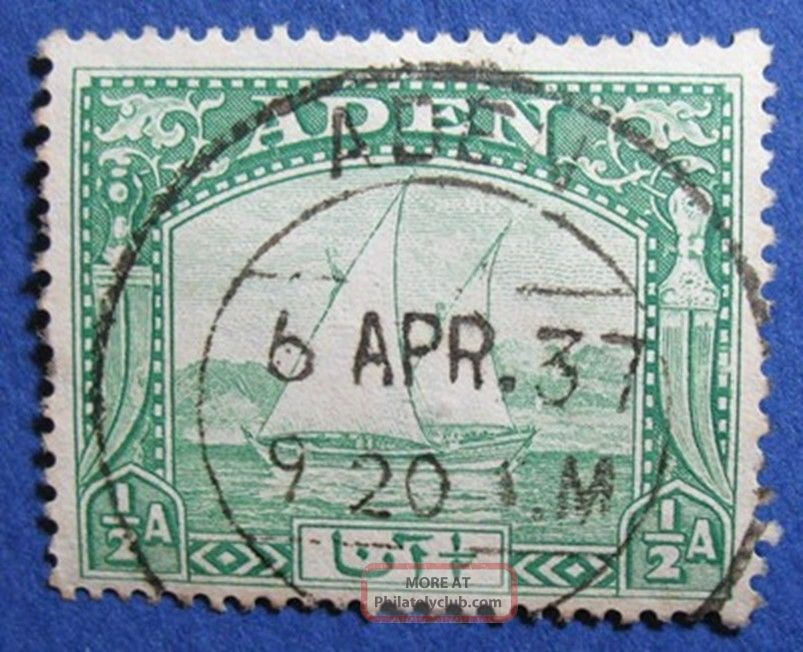1937 Aden 1/2a Scott 1 S.  G.  1  Cs04190 British Colonies & Territories photo