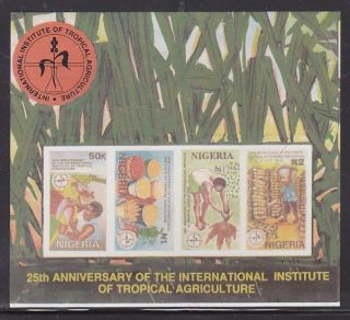 Nigeria - Tropical Agriculture,  Imperforated Sheetlet photo