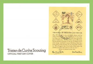 Tristan Da Cunha 1982 75th Anniv Of Boy Scout Movement M/s On First Day Cover photo