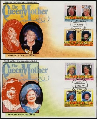 Virgin Islands 509 - 16 On Fdc ' S Queen Mother,  Royalty,  Flower photo