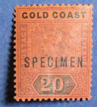 1894 Gold Coast 20s Scott 25 S.  G.  25 Specimen Cs01019 photo