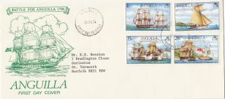 (28130) Anguilla Fdc Battle For Anguilla 1976 photo