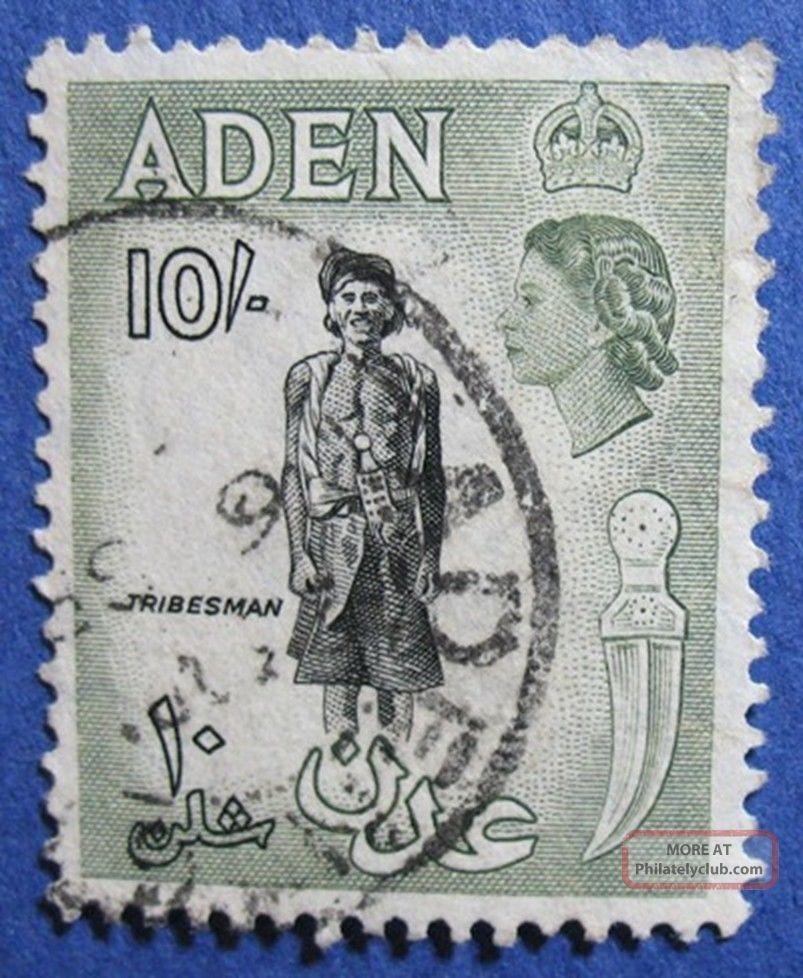1954 Aden 10s Scott 60 S.  G.  70   Cs04208 British Colonies & Territories photo