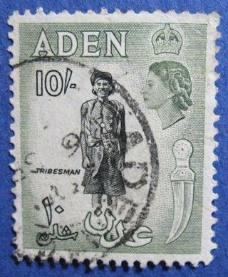 1954 Aden 10s Scott 60 S.  G.  70   Cs04208 photo