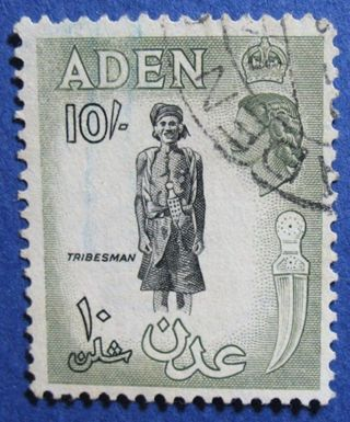 1954 Aden 10s Scott 60 S.  G.  70   Cs04218 photo