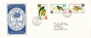 (28135) Seychelles Fdc Birds - Victoria 1976 photo