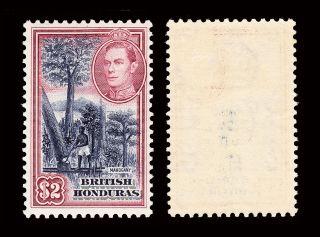British Honduras Kgvi 1938 - 47 $2 Sg 160 Fine Lightly Hinged Cv £55 photo