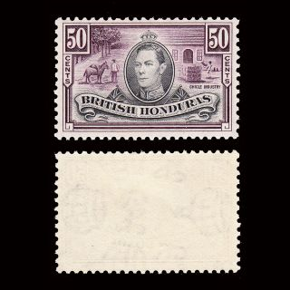 British Honduras Kgvi 1938 - 47 50c Sg 158 Fine Lightly Hinged Cv £28 photo