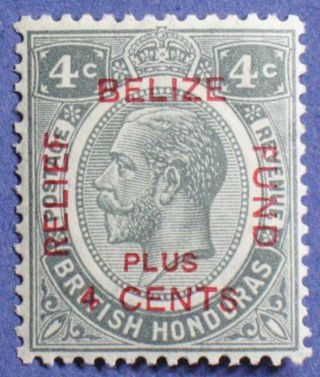 1932 British Honduras 4c+4c Scott B4 S.  G.  141 Cs01233 photo