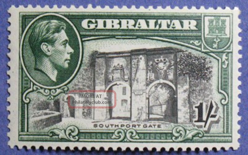1942 Gibraltar 1s Scott 114 S.  G.  127b Cs01254 British Colonies & Territories photo
