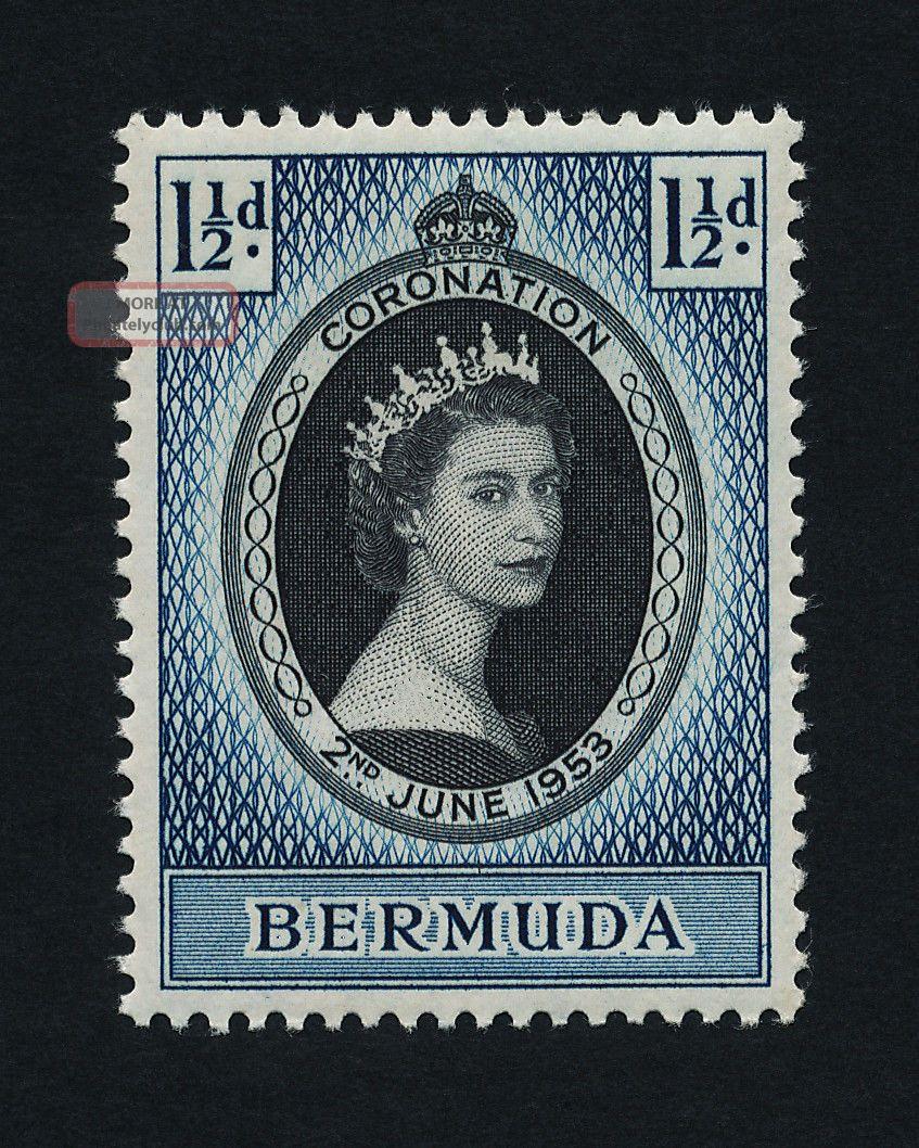 Bermuda 142 - Queen Elizabeth Coronation British Colonies & Territories photo