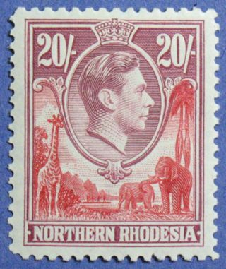 1938 Northern Rhodesia 20s Scott 45 S.  G.  45 Cs01265 photo