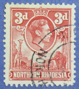 1951 Northern Rhodesia 3d Scott 35 S.  G.  35 Cs01272 photo