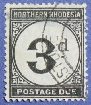 1929 Northern Rhodesia 3d Scott J3 S.  G.  D3 Cs01276 photo