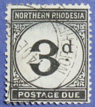 1929 Northern Rhodesia 3d Scott J3 S.  G.  D3 Cs01277 photo