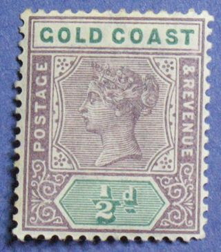 1898 Gold Coast 1/2d Scott 26 S.  G.  26 Cs01298 photo