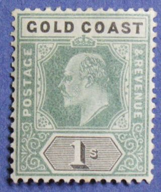 1902 Gold Coast 1s Scott 44 S.  G.  44 Cs01319 photo
