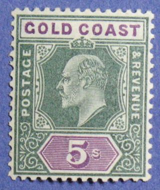 1902 Gold Coast 5s Scott 46 S.  G.  46 Nh Cs01323 photo