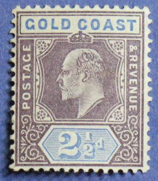 1906 Gold Coast 2 1/2d Scott 52 S.  G.  52 Nh Cs01333 photo