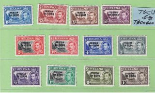 Tristan Da Cunha (1952) Sg 1 - 12 Light Hinged Vf photo