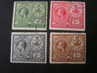 Bahamas,  Scott 65 - 68 (4),  1920 Peace Commemerative Issue Kgv Issue photo