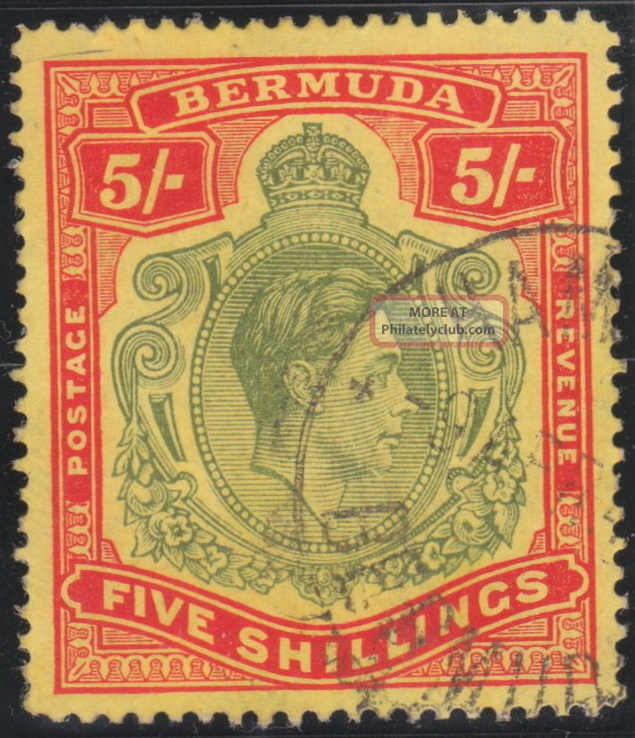 Bermuda 1938 - 1953 Key Plate Sg118bf Gash In The Chin Stamp British Colonies & Territories photo