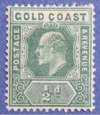 1907 Gold Coast 1/2d Scott 56 S.  G.  59 Cs01343 photo
